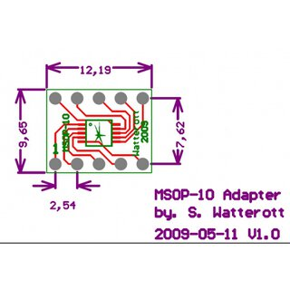 MSOP - DIP Adapter 10-Pin