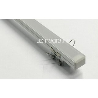 Embedding clip chrome steel for LED profile MILAN/ CALIFORNIA/ PHILADELPHIA/ BERLIN  for wall or ceiling mounting