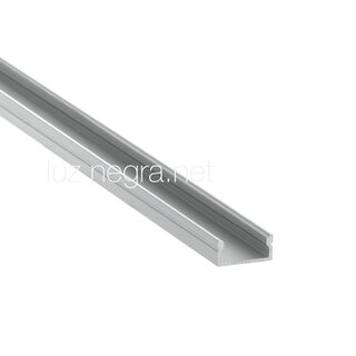 Aluminium profile CALIFORNIA, white lacquered, 17x8mm - 2m