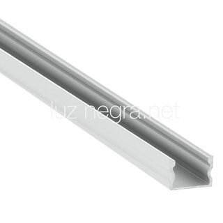 Aluminum profile NEW YORK, white lacquered, 17x14.5mm - 6m