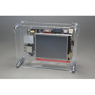 OpenDisplayCase Front für RPi-Display B+ 2.8 Touch-Display