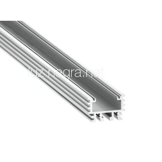 aluminum profile INFERNO, silver anodized, 26.5x19.2mm, IP65 - 2m