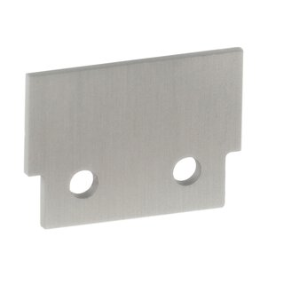 End cap (aluminum) for LED profile INFERNO, silver anodized (without hole)