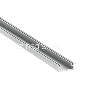 Aluminum profile FRANKFURT, black anodized, 20.7x7.5mm, IP65 - 6m