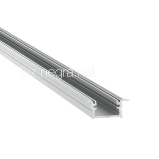 Aluminum profile BERLIN, silver anodized, 24x12mm, IP65 - 2m