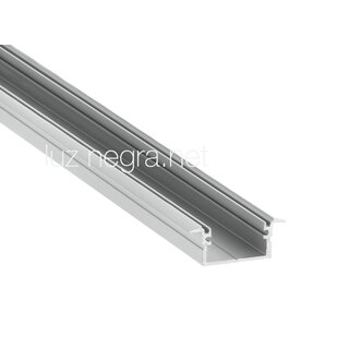 Aluminum profile BERLIN XL, silver anodized, 28.4x12.5mm, IP65 - 2m