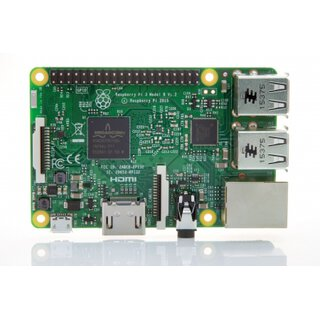 Raspberry Pi 3 Modell B - 64Bit 1.2GHz Quad-Core ARM-Cortex-A53
