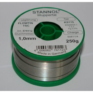 Soldering tin1,0mm Sn95Ag4Cu1 250g (lead-free)