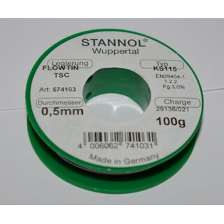 Soldering tin 0,5mm Sn95Ag4Cu1 100g (lead-free)